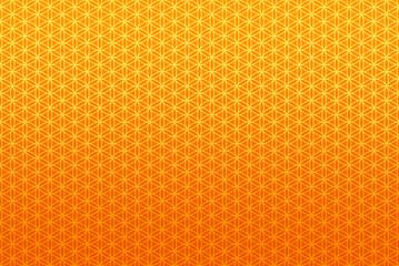 Hintergrund Muster Endlos - Blume des Lebens Orange 1