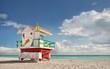 Miami Beach, Florida colorful lifeguard house