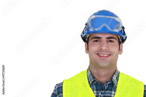 Portrait of smiling craftsman