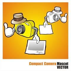 compact Camera mascot vector