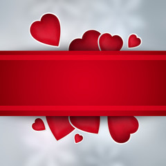 Valentines background with copyspace