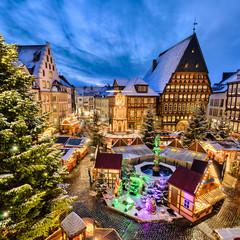 Weihnachtsmarkt in Hildesheim, Deutschland