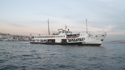 Ferry near Galata bridhe, Istanbul, Turkey