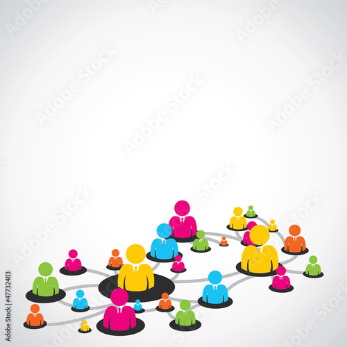 colorful people network stock vector