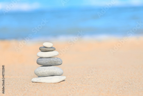 Balance concept: zen stones stacked together
