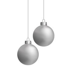 Weihnachtskugeln, silber