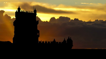 Portugal Belem tower east sunrise