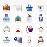 Fototapety Hotel and motel services icons - vector icon set