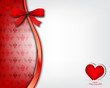 Heart Background with red bow