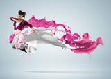 Fototapeta fitness - energia - Zdrowie / Gimnastyka / Taniec