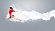 portrait of pretty snowgirl