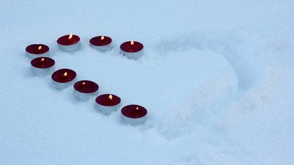 burning heart,heart on snow,fire and icy heart,