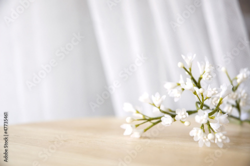 white artificial flowers