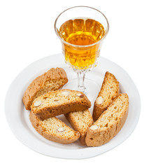 sweet white wine and italian almond cantuccini