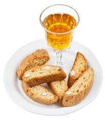 sweet white wine and italian almond cantuccini