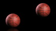 Basketball, jumping on black background, loop