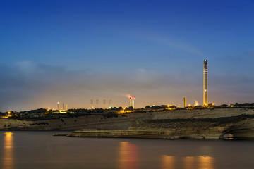 Delimara Power Station at Dawn