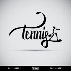 Tennis hand lettering - handmade calligraphy