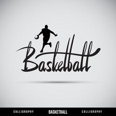 Basketball hand lettering - handmade calligraphy