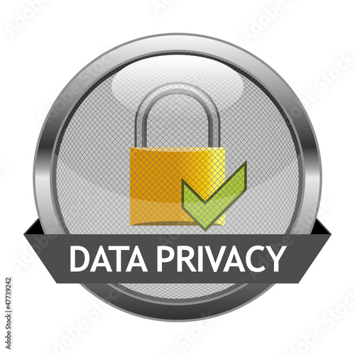 Vector Button Data Privacy