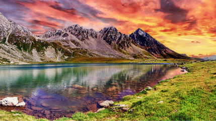 Hdr....Sunset on the Alps