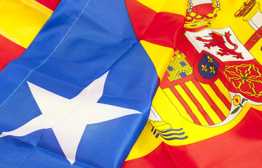 Flag of Spain and Catalonia