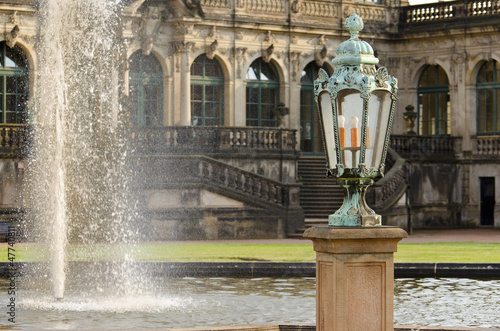 Lamp and Fountain in the Zwinger