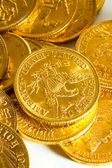 American gold coins.