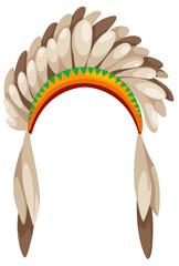 native american headdress vector