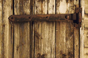 Old rustic barn door