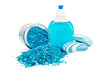 Soap blue different with bath salts in the jar