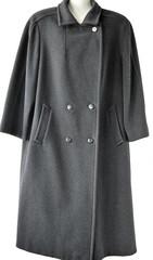 Schwarzer langer Mantel / Wollmantel / Winterkleidung