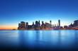 Lueur crépusculaire sur New York.