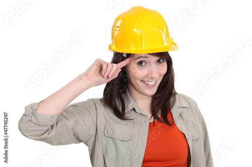 Worker making a crazy gesture