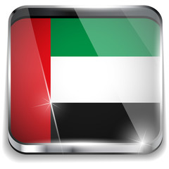 Emirates Flag Smartphone Application Square Buttons