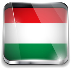 Hungary Flag Smartphone Application Square Buttons