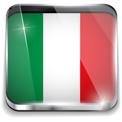 Italy Flag Smartphone Application Square Buttons