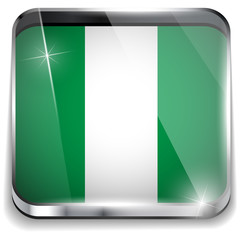 Nigeria Flag Smartphone Application Square Buttons
