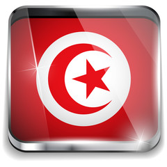 Turkey Flag Smartphone Application Square Buttons