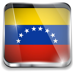 Venezuela Flag Smartphone Application Square Buttons