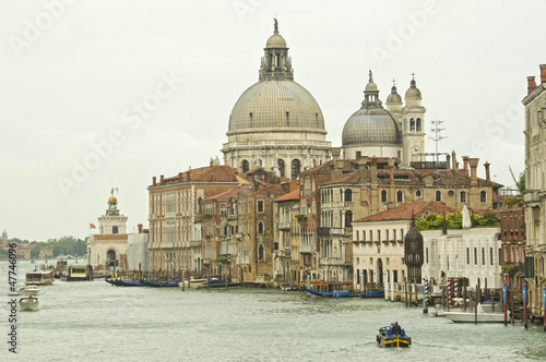 Venice: Santa Maria della Salute church along Grand Canal