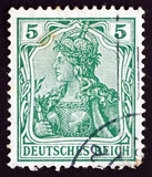 Postage stamp Germany 1902 Germania, Personification of Germany poster