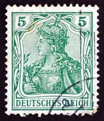 Postage stamp Germany 1902 Germania, Personification of Germany