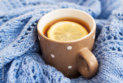 Cup of tea in the winter