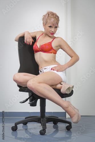 Erotikstyle im Büro