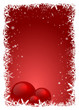 Red Christmas Frame with bubbles