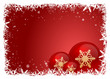 Red snow frame with bubbles