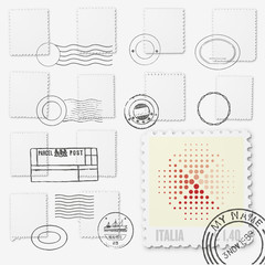 Blank stamps & postmark template