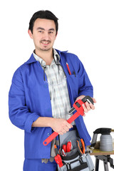 skilled technician with tools