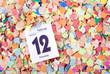Konfetti mit Kalenderblatt Fasching 2013 III